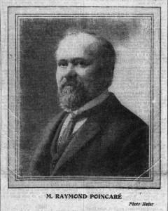 Raymond POINCARÉ, en une du journal La Croix du 20 janvier 1913 - portrait par Nadar