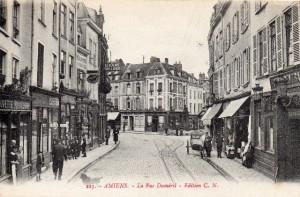 Carte Postale Ancienne d'Amiens (Somme) - La Rue Duméril - Edition C.N., n° 223 | collection Yvon Généalogie