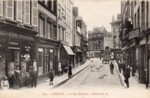 Carte Postale Ancienne d'Amiens (Somme) - La Rue Duméril - Edition C.N., n° 224 | collection Yvon Généalogie