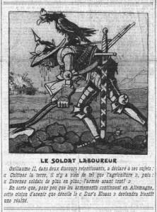 Le soldat laboureur (allemand) - La Croix en une du 28 février 1913