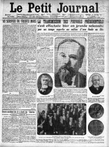 Le Petit Journal, une du 19 février 1913