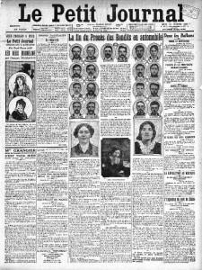 Le Petit Journal , une du 27 février 1913