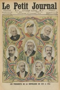 Le Petit Journal illustré, supplément du dimanche 19 janvier 1913 - une : présidents français