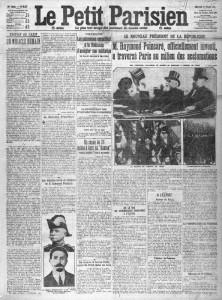 Le Petit Parisien, une du 19 février 1913
