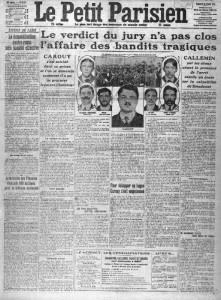 Le Petit Parisien, une du 28 février 1913