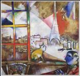 Paris par la fenêtre par Marc Chagall, 1913 | Guggenheim Museum, New-York