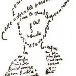 La femme au chapeau, calligramme de Guillaume Appolinaire, 1915