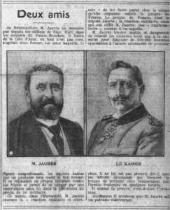 La Croix, une du 12 mars 1913 - extrait : Deux amis