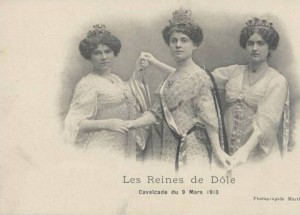 Carte Postale Ancienne - Dôle (Jura) - Les Reines de Dôle - Cavalcade du 9 Mars 1913