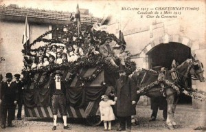 Cartes Postale Ancienne - Mi-Carême, Chantonnay (Vendée) - Cavalcade du 2 Mars 1913 - Char du Commerce | Delcampe - Jeanine8100