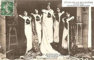 Carte Postale Ancienne - Montluçon (Allier) - Fêtes de la mi-Carême - 9 Mars 1913 - Les Reines de Montluçon | Delcampe - 911estelle