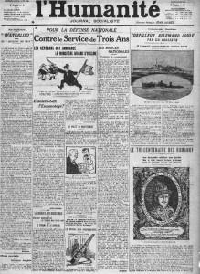 L'Humanité, une du 6 mars 1913