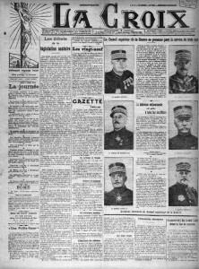 La Croix, une du 5 mars 1913 | Gallica - BnF