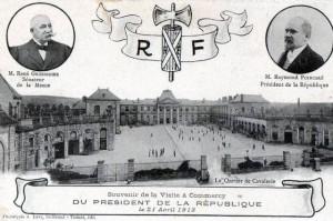 Carte Postale Ancienne - Commercy (Meuse) - Souvenir de la Visite DU-PRESIDENT DE LA RÉPUBLIQUE le 21 Avril 1913