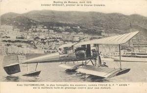 Carte Postale Ancienne - Monaco - Meeting Avril, 1913 - Aviateur BREGUET, premier de la Course Croisière