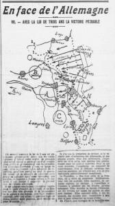 L'Ouest-Eclair, une du 6 avril 1913 - En face de l'Allemagne