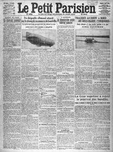 Le Petit Parisien du 4 avril 1913, une