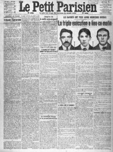 Le Petit Parisien, une du 21 avril 1913