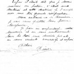 Lettre d'adieu de Pierre BOLZER (1913-1943), résistant, fusillé au Mont-Valérien