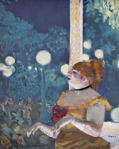 Au café concert - La chanson du chien - Portrait de Thérésa (1837-1913), vers 1876, par Edgar DEGAS