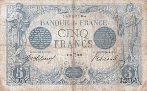 Billet de 5 Francs, type Bleu, 16/05/1913 - recto