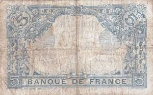Billet de 5 Francs, type Bleu, 16/05/1913 - verso