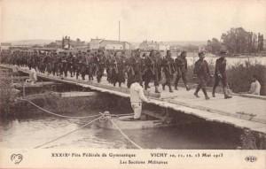 Carte Postale Ancienne - Vichy (Allier) - 10, 11, 12, 13 Mai 1913 - XXXIXe Fête Fédérale de Gymnastique - Les Sections Militaires