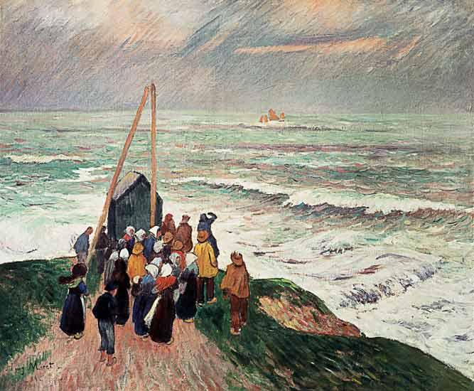 L'attente des pécheurs, par Henry MORET (1856-1913)