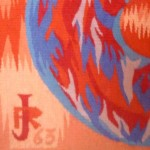 Raymond JUPILLE (1913-1997), Allégorie, tapisserie d'Aubusson, ateliers Pinton freres, 1963 - extrait