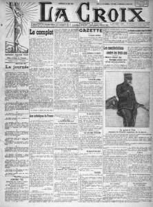 La Croix, une du 23 mai 1913