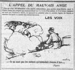 La Croix - une du 30 mai 1913 (extrait) - L'APPEL DU MAUVAIS ANGE