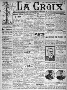 La Croix, une du 3 juin 1913