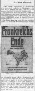 La Croix, une du 26 juillet 1913, extrait - La haine allemande