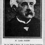 L'Ouest-Eclair (Rennes), une du 1er août 1913, extrait - M. Louis Passy est mort