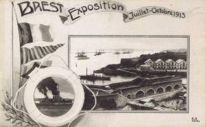 Carte Postale Ancienne - Brest - Exposition - Juillet-Octobre 1913