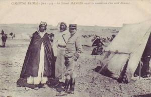 Carte Postale Ancienne - COLONNE TADLA - Juin 1913 - Le Colonel Mangin reçoit la soumission d'un caïd Zemour