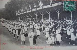 Carte Postale Ancienne - Nancy (Meurthe-et-Moselle) - Concours International de Gymnastique - 22 et 23 Juin 1913