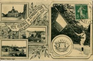 Carte Postale Ancienne -Segré - Fête fédérale de Gymnastique - 27 Juillet 1913