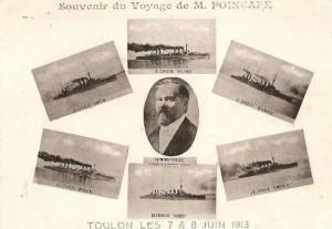 Carte Postale Ancienne - Toulon (Var) - Souvenir du Voyage de M. Poincaré - 7 et 8 Juin 1913
