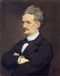 Henri ROCHEFORT (1931-1913), journaliste, par Édouard Manet, 1881, huile sur toile - Kunsthalle, Hambourg