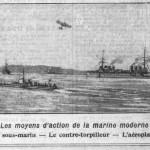 La Croix, une du 29 mai 1913, extrait - Les moyens d'action de la marine moderne