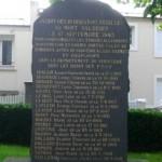 Plaque commémorative des fusillés du Mont-Valérien