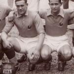Jean NICOLAS (1913-1978), footballeur, à gauche (avec Roger RIO)