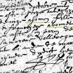 Acte de Baptême de Denize ASIMON, 1613, Saint-Saturnin | AD 18 - BMS 1607-1672 - vue 5