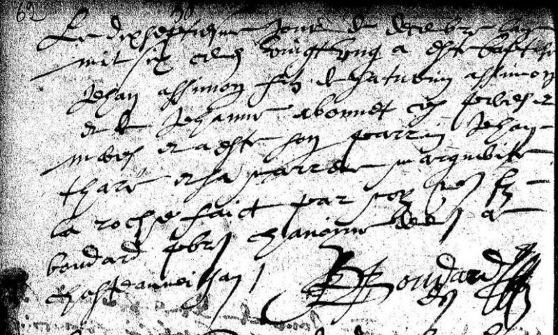 Acte de Baptême ASSIMON, 1622, Saint-Saturnin (Cher) | AD 18 - BMS 1607-1672 - vue 32