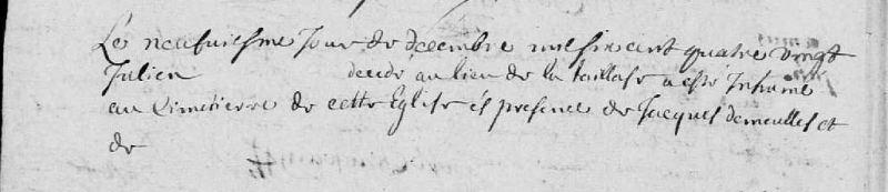Acte de sépulture à trous, 1680, Saint-Cyr-La-Rosière (Orne) | AD 61 - cote E dépôt 301/7 - BMS 1661-1686 - vue 139