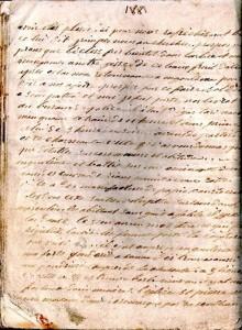 page du manuscrit de Jean Baptiste GERBIER (1835-1890), poitevin, dit Fuschia
