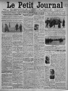 Le Petit Journal, une du 11 janvier 1914