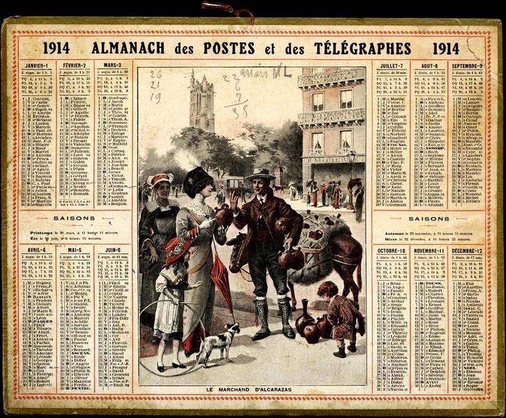 Almanach des Postes et des Télégraphes, 1914