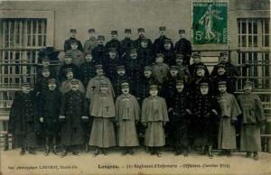 Carte Postale Ancienne - Langres (Haute-Marne) - 21e Régiment d'Infanterie - Officiers - Janvier 1914